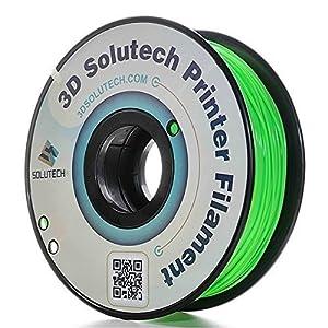 3D Printer PLA Filament 1.75MM Filament, Dimensional Accuracy +/- 0.03 mm, 2.2 lbs (1.0KG) - 100% USA - 3D Solutech by 3D Solutech
