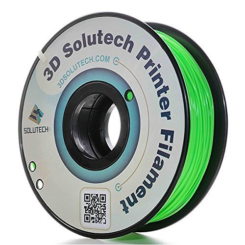 3D Solutech Apple Green 3D Printer PLA Filament 1.75MM Filament, Dimensional Accuracy +/- 0.03 mm, 2.2 LBS (1.0KG) - 100% USA