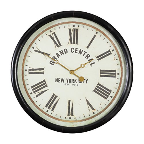Grand Central Station Wall Clock | Retro New York City Round Vintage Style (Station Central Clock)