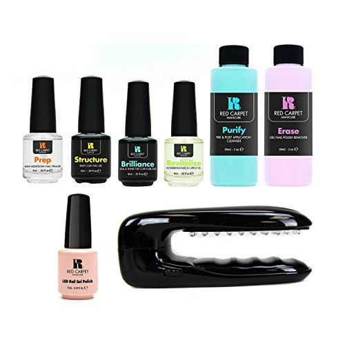 Red Carpet Manicure Gel Polish Starter Kit with New Portable