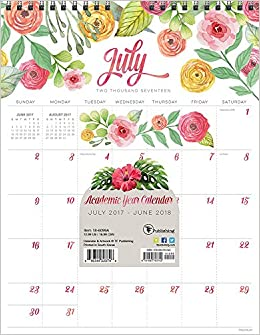 2018 Academic Year Flowers Monthly Wall Calendar: TF Publishing ...