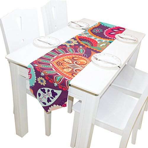 ABLINK Abstract Pattern 100% polyester characteristic print double-sided Table Runners]()
