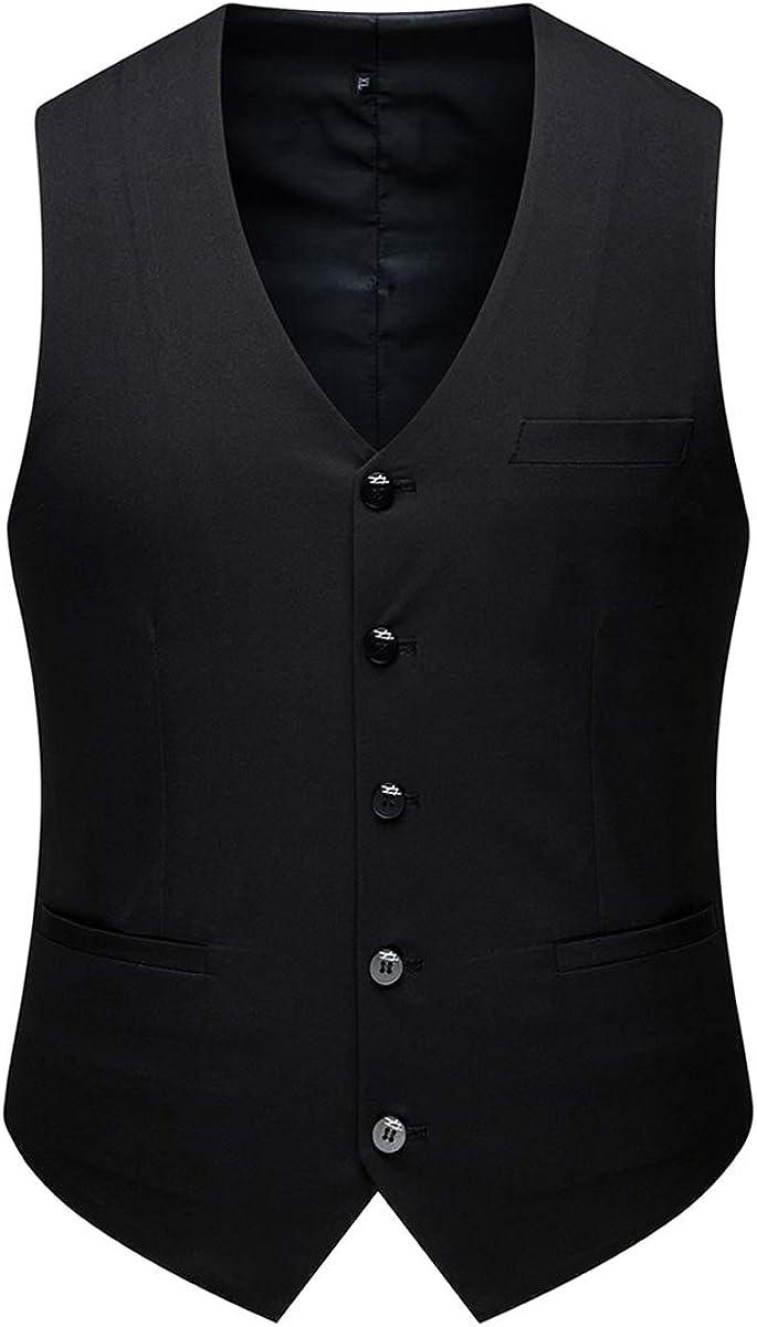 AOWOFS Herren 3 Teilig Slim Fit Anzug Elegant Zwei Knopf Smoking f/ür Business Hochzeit