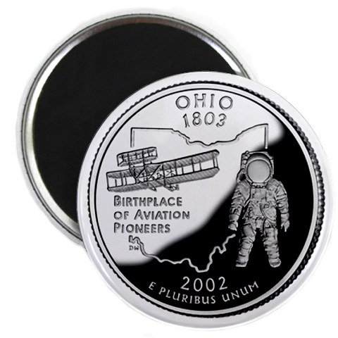 Ohio State Quarter Mint Image 2.25 inch Fridge Magnet