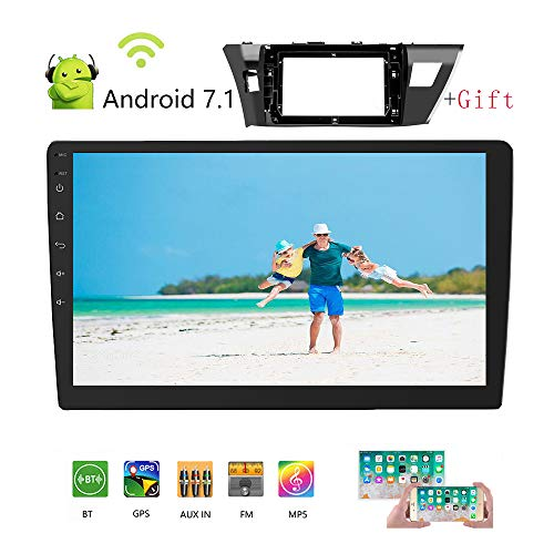 GL Podofo Car Stereo Double Din Android Car Radio for Toyota 14 Corolla 10.1 inches Touch Screen GPS Navigation WiFi Bluetooth Head Unit for Toyota 14 Corolla 2014-2016