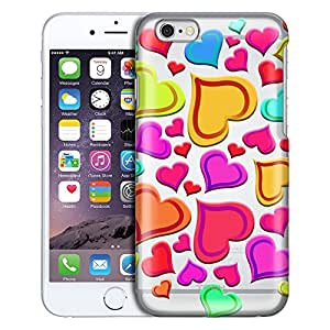 Apple iPhone 6 Plus Case, Slim Fit Snap On Cover by Trek Brilliant Hearts Clear Case