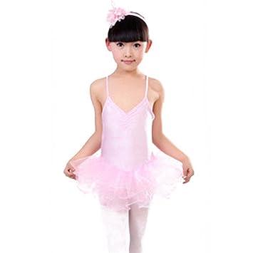 cbdc362a3 Moresave Vestido de falda de ballet niñas correa de niño de color ...