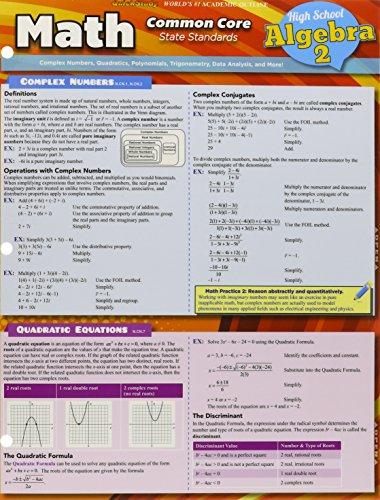 Math Common Core Algebra 2 11Th Grade