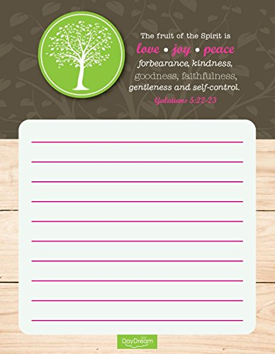 Tree & Woodgrain Design Christian Notepads (Set of 4) - Galatians 5:22-23 - Canopy Street