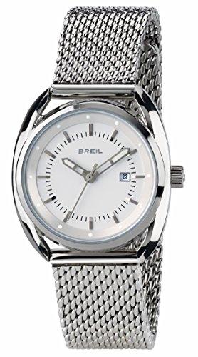 BREIL - Beaubourg Woman Watch TW1636 - Time Clock with White Dial - 32 mm Steel Case - Steel Bracelet - Quartz Movement