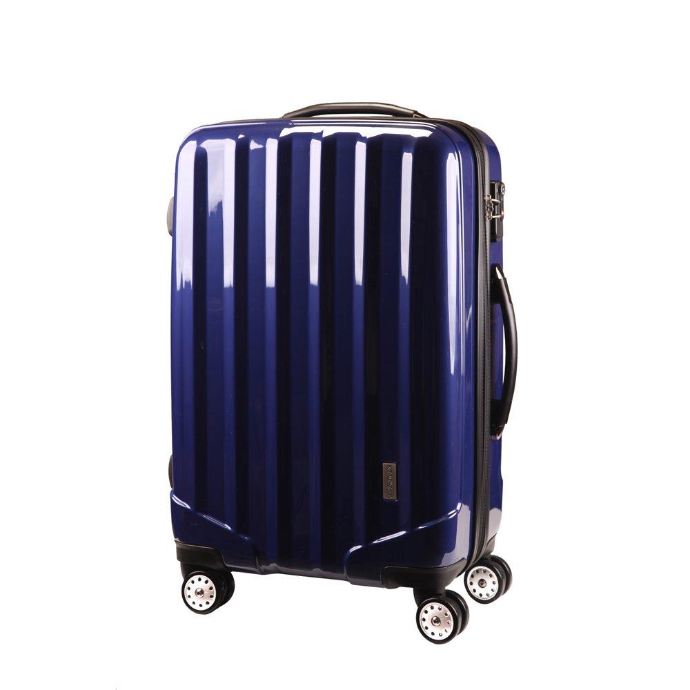 ファスナー式スーツケース TSAロック 4輪 ダブルキャスター[ケーテイーワールド] KT523F B00P3P6SMQ ロイヤルブルー L 大型