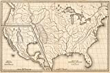 School Atlas | 1839 Map of the United States and Texas ... Mexico and Guatimala. | Historic Antique Vintage Reprint