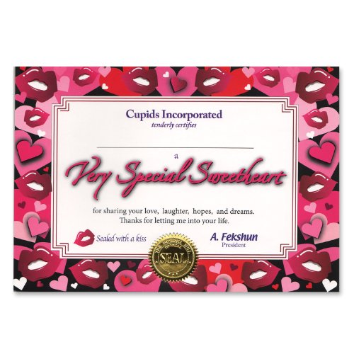 Beistle CG058 Very Special Sweetheart Certificate, 5
