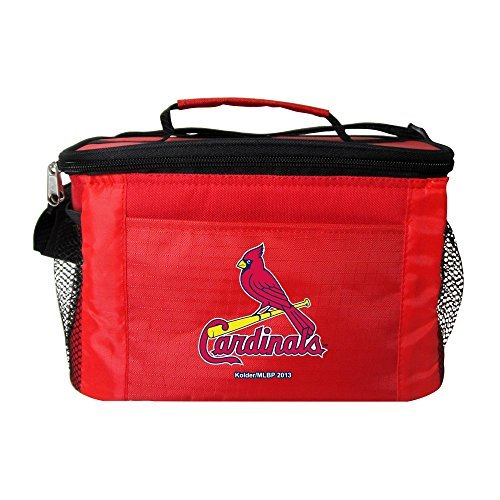 Kolder MLB St. Louis Cardinals Insulated Lunch Cooler Bag with Zipper Closure, Red ()