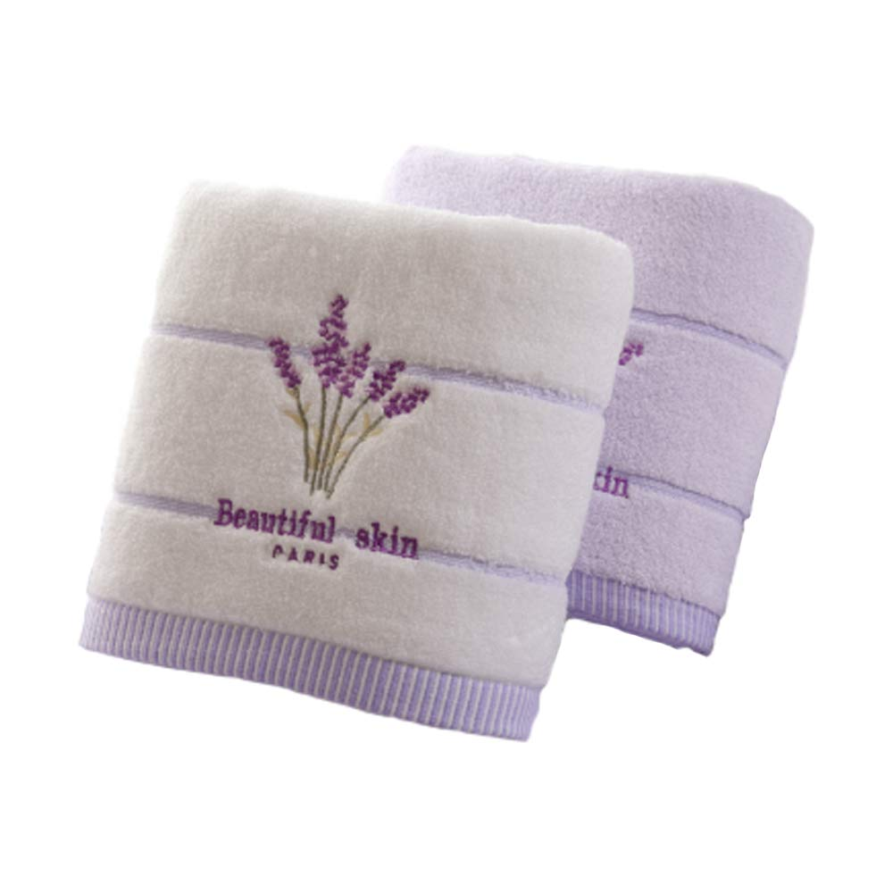 Shanxi horse Cotton 32 Lavender Towel Bath Towel Cotton Premium Gift - 2 Sets of Absorbent Towel Swimming Sandpaper Outdoor Sports Towel Beach Blanket Bath Towel Children and Adults