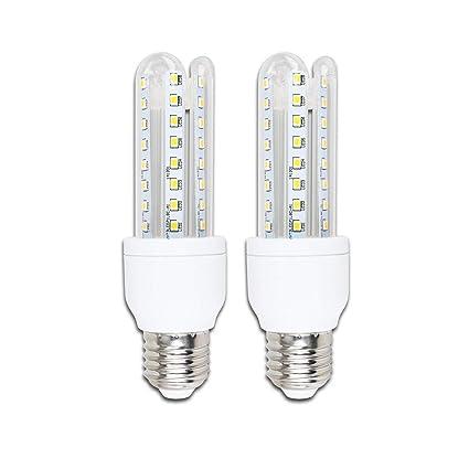 Pack de 2 Bombillas LED B5 T3 3U, 9W, casquillo gordo E27, luz