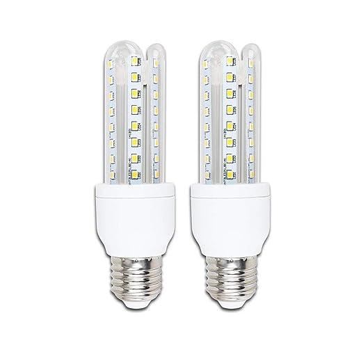 Pack de 2 Bombillas LED B5 T3 3U, 9W, casquillo gordo E27, luz ...