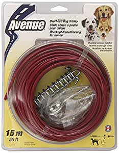 Dogit Tether Overhead Dog Trolley, 50-Feet, Red