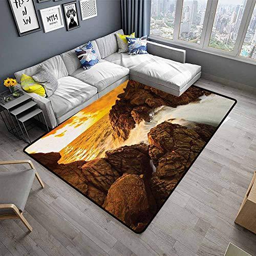 (Beach,Anti-Slip Cooking Kitchen Carpets 24