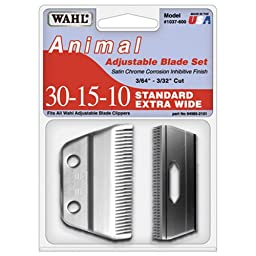 Wahl Professional Animal Standard Adjustable Replacement Blade Set, 30-15-10 Extra Wide #1037-600