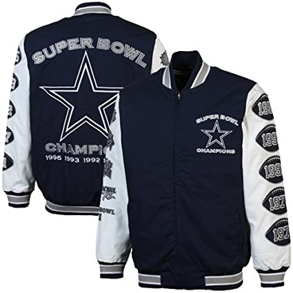 5886a25f1 Image Unavailable. Image not available for. Color  Dallas Cowboys Navy  Commemorative 5X Super Bowl Champs Canvas Jacket