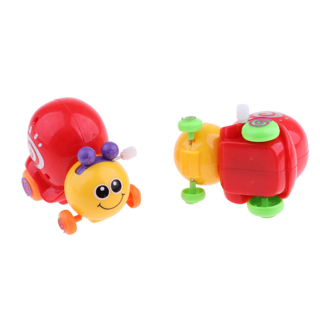 D DOLITY Kids Bath Time Play Clockwork Wind Up Snail Toy for Party Bag Stocking Fillers