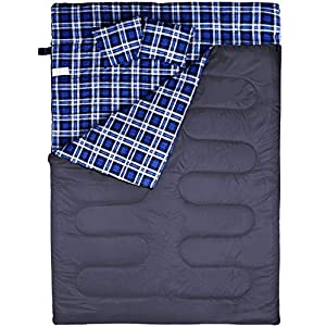 BESTEAM Sleeping Bag, Cool & Cold Weather for Backpacking, Hiking, Family Camping. Queen Size XL! Lightweight, Waterproof Sleeping Bags for Adults, Teens, Truck, Tent, Sleeping Pad
