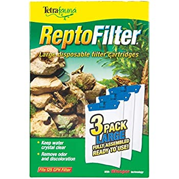 Tetra ReptoFilter Filter Cartridges, With Whisper Technology, Large, 3-Pack