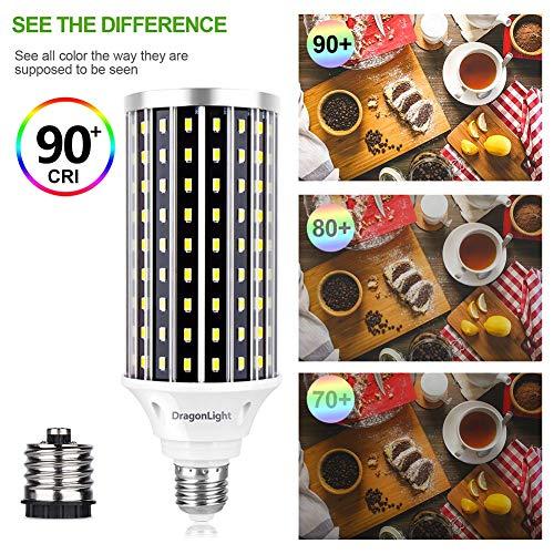 50W Super Bright LED Corn Light Bulbs(400 Watt Equivalent) - E26/E39 Mogul Base LED Bulbs - 6500K Daylight 5000 Lumens… 4