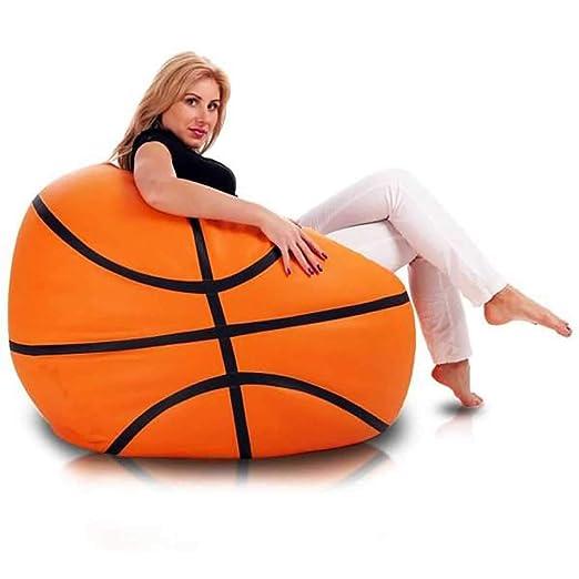 Ecopuf Basketball - Puf de Piel sintética, 55 x 100 cm: Amazon.es ...