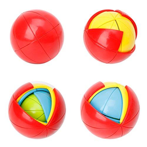 Misright 3D Magic Intellect Puzzle Maze Ball Brain Teaser Game Kids IQ Training Toys