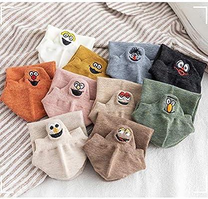 5 Pairs Women/'s Cotton Socks Embroidery Cartoon Cute Fruit Print Short Socks UK