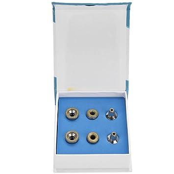 Professionelle Dermabrasion Tipps Edelstahl Filter Set 6tlg Nikou Ersatz Diamant Mikrodermabrasion Hautpflege Zubeh/ör Diamantbohrer Set