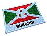 Republic of Burundi Burundian National Flag Sew on Patch Free Shipping