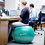 Exercise Stability Ball Chair with Hand Pump Use