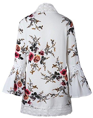 Femme YOGLY Imprim Veste Gilet Kimono qOw0Uv