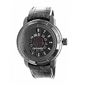 Hysek io jumping hour io4705b02 47mm automatic ion plated stainless steel case black for Anti reflective watches