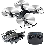 Foldable RC Drone with Camera, 8807W Wifi FPV 2.4G Altitude Hold Headless Quadcopter with 720P 2MP Wide Angle Camera by Fancywing