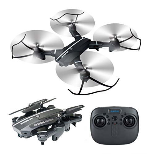Foldable RC Camera Drone 8807W Wifi FPV 2.4G Altitude Hold Headless Quadcopter with 720P 2MP Wide Angle Camera by Fancywing