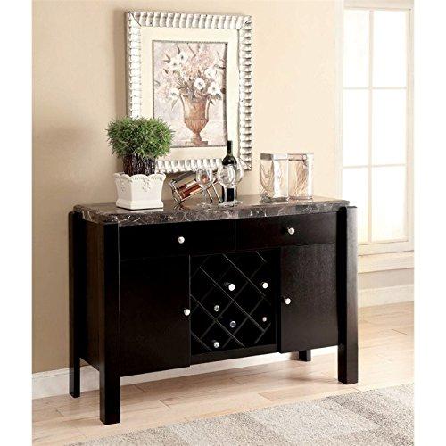 Furniture of America Ramsy Marble Top Buffet in Black ()