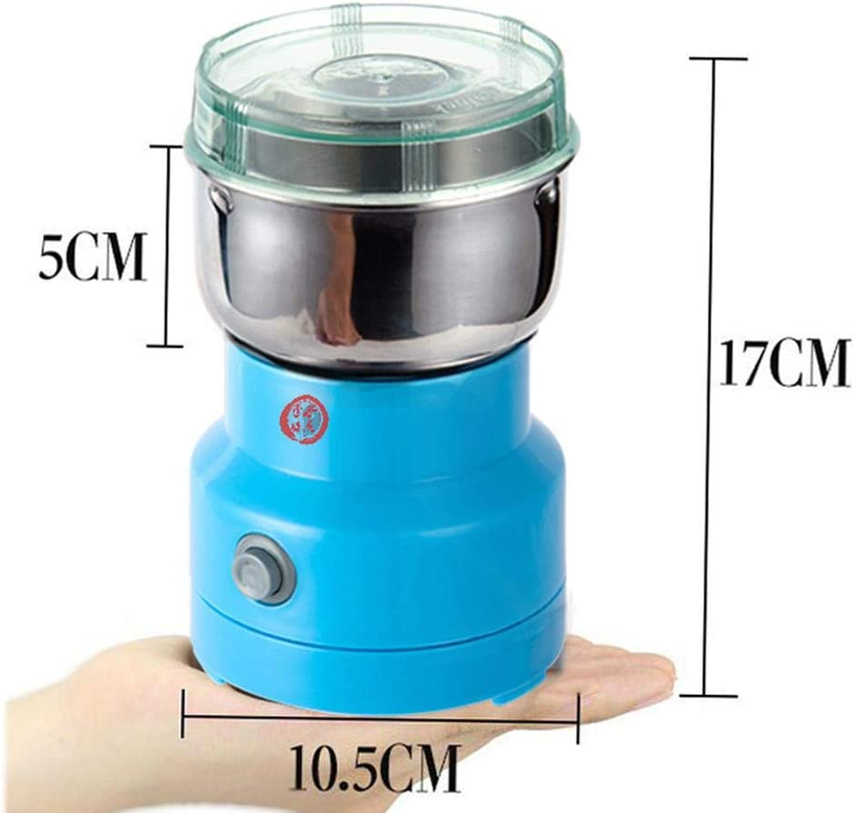 Blossomer Electric Grain Grinder Stainless Steel Pulverizer Grinding Machine Commercial Cereals Grain Mill for Kitchen Herb Spice Pepper Coffee Rice Corn Sesame Soybean