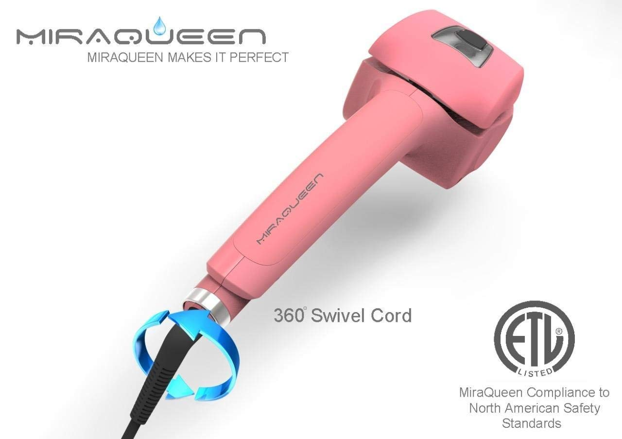 Amazon.com: Curling Iron, Miraqueen Steam Curling Wand Hair Curler with Ceramic Curler: Beauty