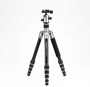"""MeFOTO RoadTrip Classic Lightweight 61.6"""" Aluminum Travel Tripod/Monopod w/Case, Twist Locks, Triple Action Ballhead w/Arca Swiss Plate for Mirrorless/DSLR Sony Nikon Canon Fuji - Titanium (A1350Q1T)"""