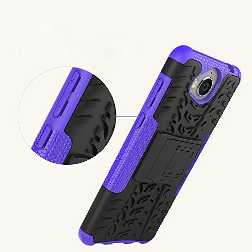 OFU®Para Huawei Nova Young Mya-L11 Smartphone, Híbrido caja de la armadura para el teléfono Huawei Nova Young Mya-L11 resistente a prueba de golpes contra la lucha de viaje accesorios esenciales del t azul