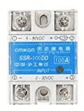 Woljay SSR-100DD 100A Solid State Module Relays Solid State Relays 3-32VDC 5-80VDC