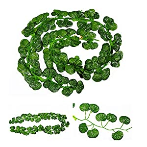 12 pcs 78inch Artificial Hanging Flowers Plants Green Leaves Decoration Garden Wall Decoration for Wedding Kitchen 3