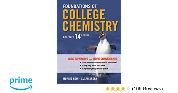 Foundations of College Chemistry, Binder Ready Version: Morris Hein