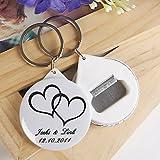 BST Wedding Favors Personalized Bottle Opener / Key Ring - Telesthesia (set of 12)