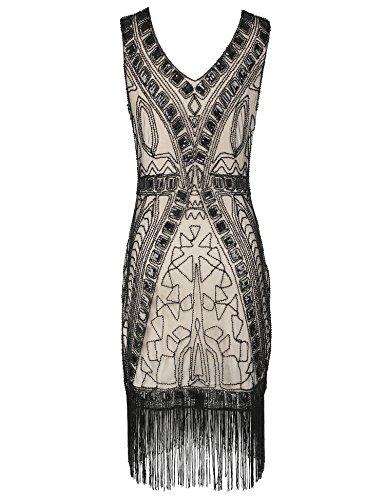 Flapper Girl 1920s Flapper Dresses Art Deco Sequin Tassel ...