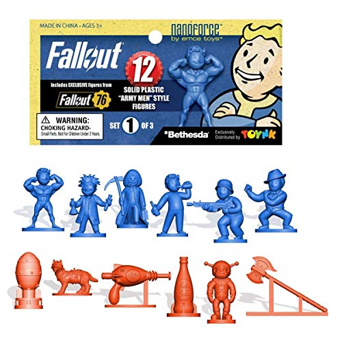 Toynk Fallout Nanoforce Series 1 Army Builder Figure Collection - Bagged Set 1 | Vault Boy | Weapons | Special Edition Gaming Figures |